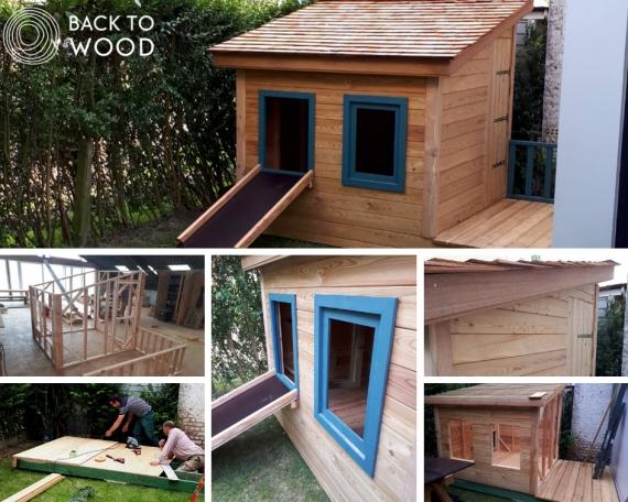 Cabane en bois pour petits et grands