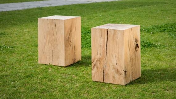 Volumes issus de poutres en chêne massif