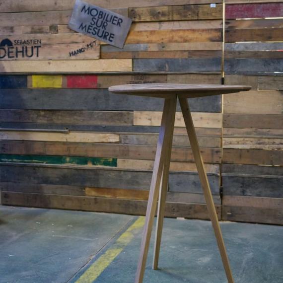 Table haute en wengé